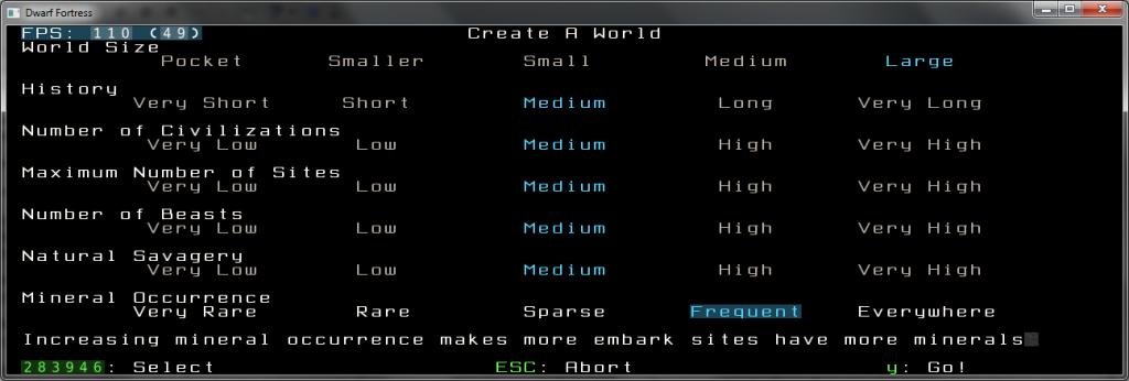 Create World Screen